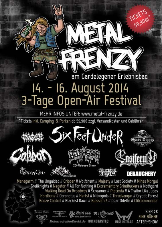 Flyer Metal Frenzy 2014
