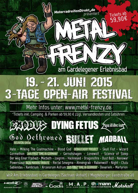 Flyer Metal Frenzy 2015