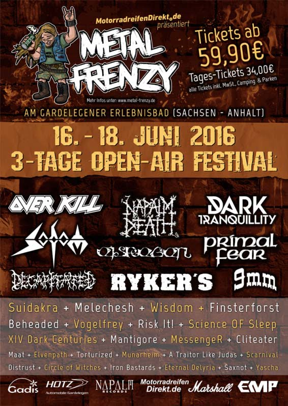 Flyer Metal Frenzy 2016