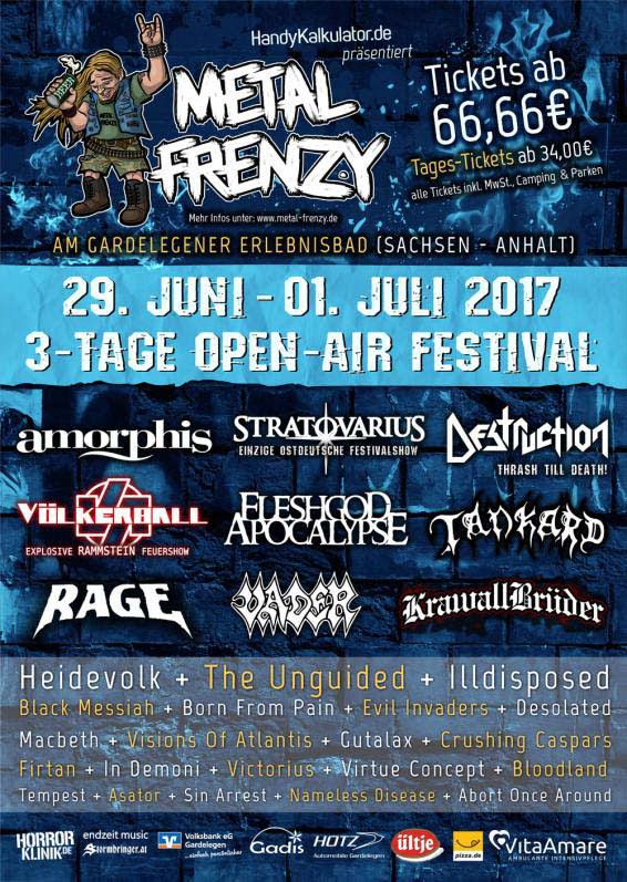 Flyer Metal Frenzy 2017