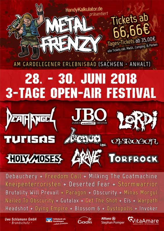 Flyer Metal Frenzy 2018