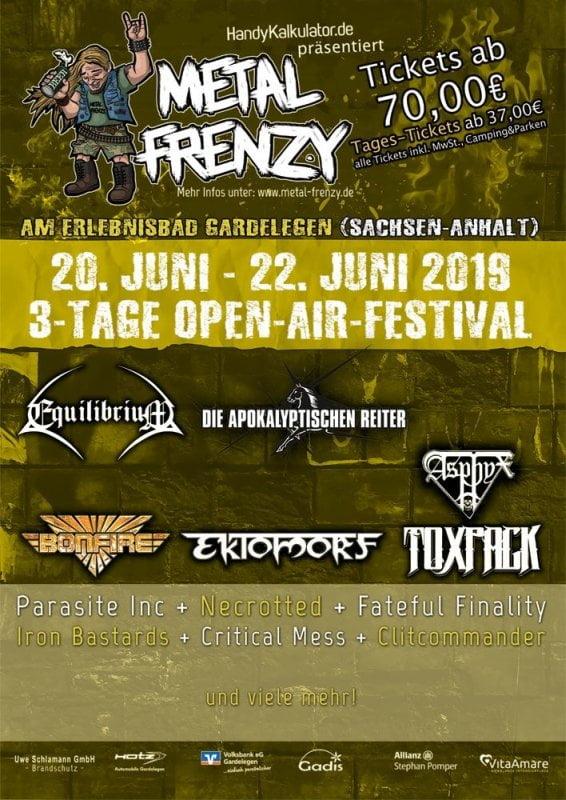 Metal Frenzy 2019 Flyer
