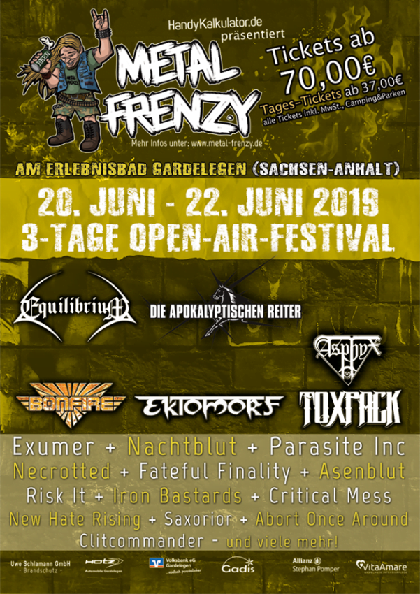 Metal Frenzy 2019 Stand 2018-12