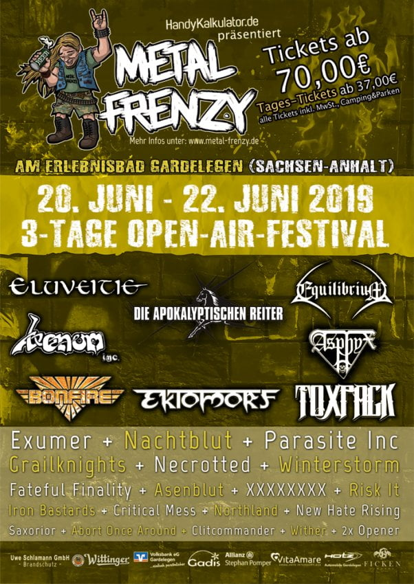 Metal Frenzy 2019 Bandpaket 2019-02-24
